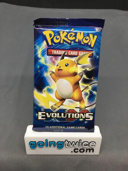 Factory Sealed Pokemon XY EVOLUTIONS 10 Card Booster Pack - Iconic CHARIZARD Holo?