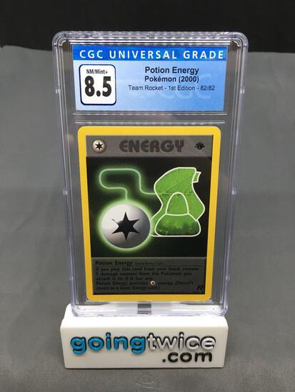 CGC Graded 2000 Pokemon Team Rocket 1st Edition #82 POTION ENERGY Trading Card - NM-MT+ 8.5
