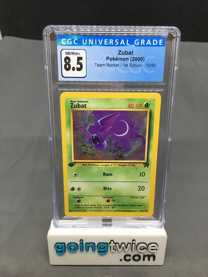 CGC Graded 2000 Pokemon Team Rocket 1st Edition #70 ZUBAT Trading Card - NM-MT+ 8.5