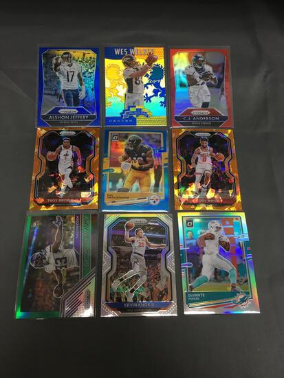 9 Card Lot of PRIZMS & REFRACTORS with ROOKIES & STARS from HUGE Collection!