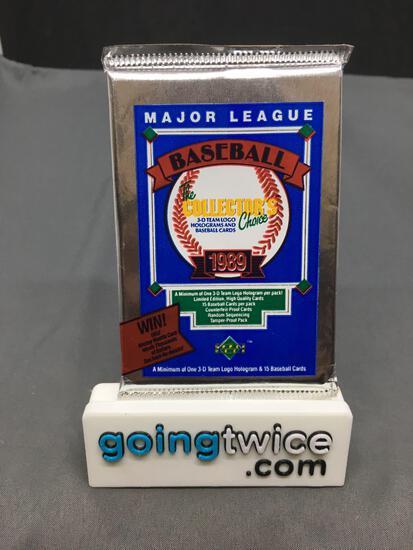 Factory Sealed 1989 Upper Deck Low # Baseball 15 Card Pack - Ken Griffey Jr. Rookie?