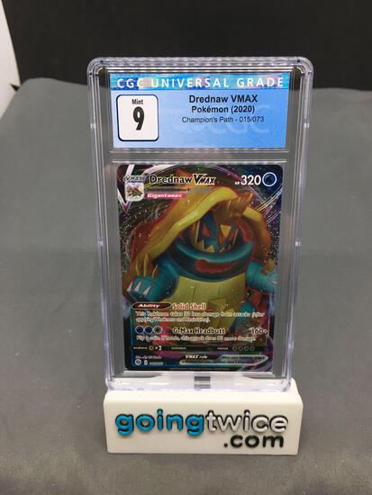 CGC Graded 2020 Pokemon Champion's Path #15 DREDNAW VMAX Ultra Rare Trading Card - MINT 9