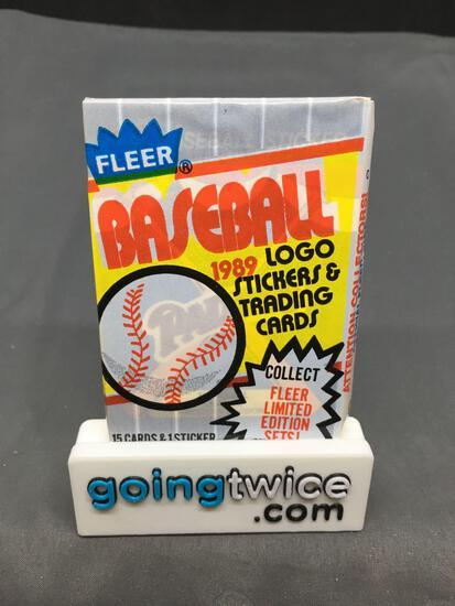 Factory Sealed 1989 FLEER BASEBALL 15 Card Vintage Hobby Pack - GRIFFEY ROOKIE? RIPKEN ERROR?