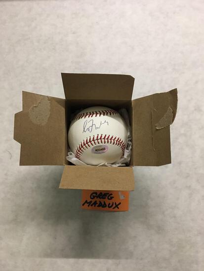 Signed GREG MADDUX Braves Autographed Baseball