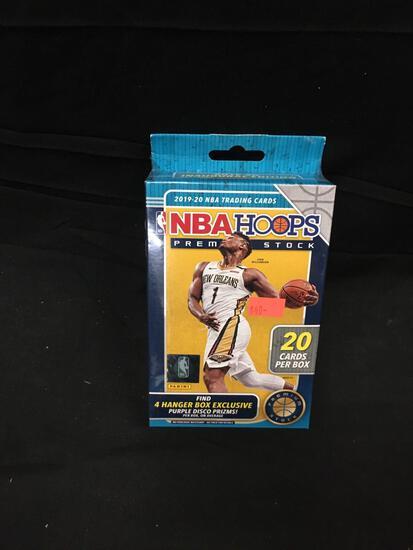 Factory Sealed 2019-20 Panini Hoops Premium Stock Basketball Hanger Box - 20 Cards Per Box