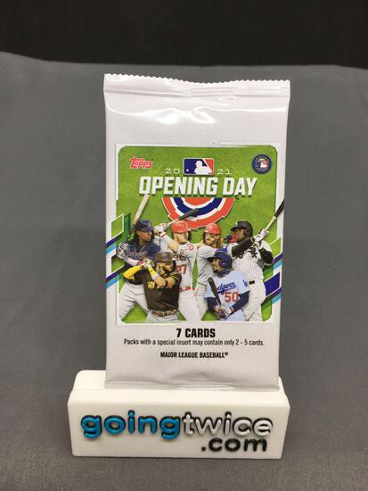 Factory Sealed 2021 Topps OPENING DAY Baseball 7 Card Pack