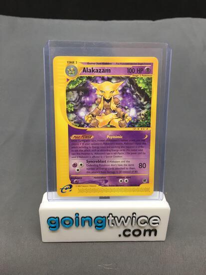2002 Pokemon Expedition #33 ALAKAZAM Rare Vintage Trading Card