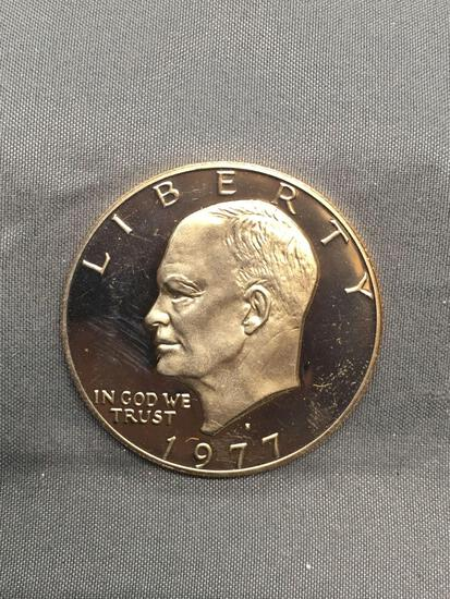 1977 United States Eisenhower PROOF Commemorative Dollar Coin from Estate