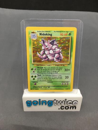 1999 Pokemon Base Set Unlimited #11 NIDOKING Holofoil Rare Trading Card