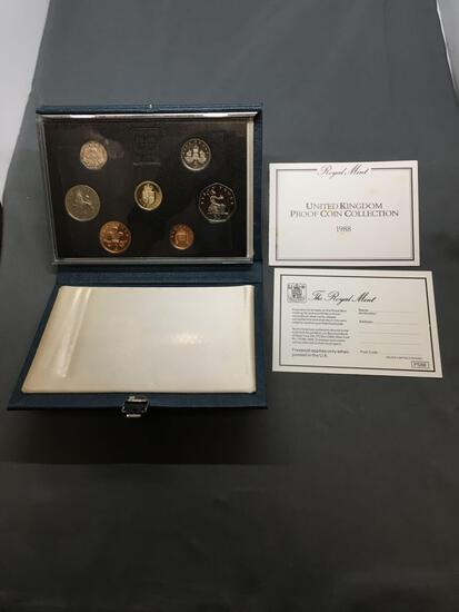 1988 United Kingdom Royal Mint Proof Coin Set in Case