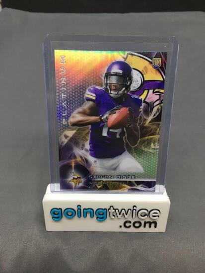 2015 Topps Platinum Football #141 STEFON DIGGS Minnesota Vikings Rookie Trading Card