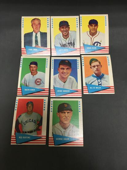8 Card Lot of 1961 Fleer Baseball Vintage Cards from Collection