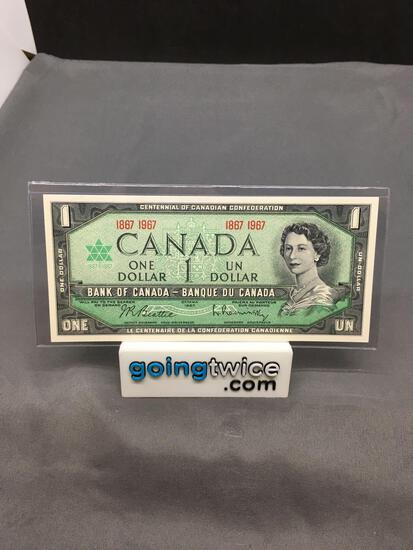 1967 Canada Queen Elizabeth $1 Bill Currency Note - No Serial Number from Estate Collection