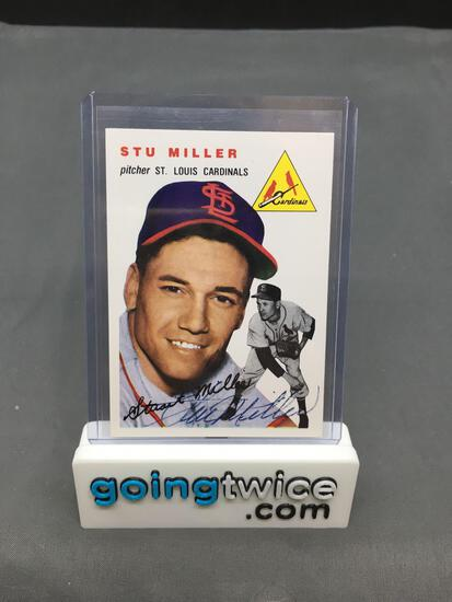 Hand Signed 1994 Topps Archives 1954 STU MILLER Cardinals AUTOGRAPHED Vintage Baseball Card
