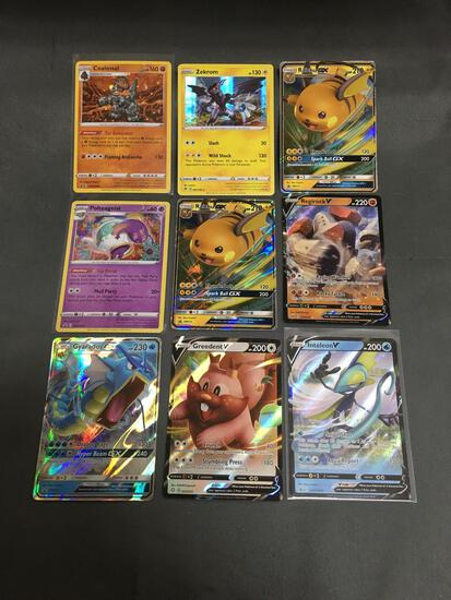 9 Count Lot of MODERN Pokemon Cards - HOLOS, FOILS & ULTRA RARES!