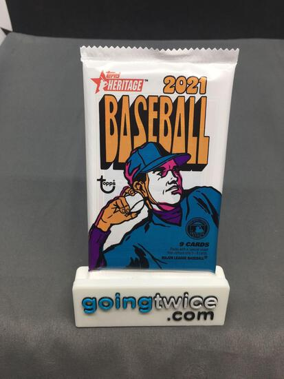 Factory Sealed 2021 Topps HERITAGE Baseball 9 Card Pack