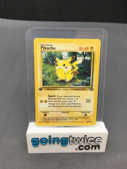 1999 Pokemon Jungle 1st Edition #60 PIKACHU Vintage Trading Card