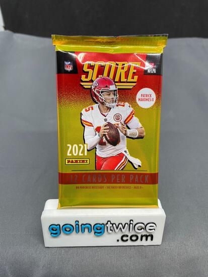 Factory Sealed 2021 SCORE FOOTBALL 12 Card Trading Card Pack