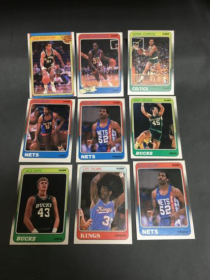 9 Card Lot of 1988-89 Fleer Basketball Cards Vintage from Huge Collection