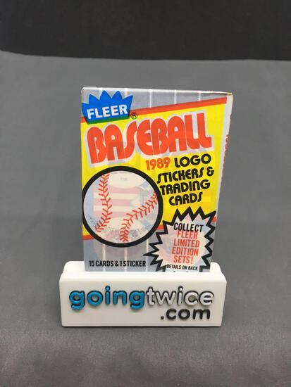 Factory Sealed 1989 Fleer Baseball Pack 15 Card Pack - Ken Griffey Jr. Rookie?