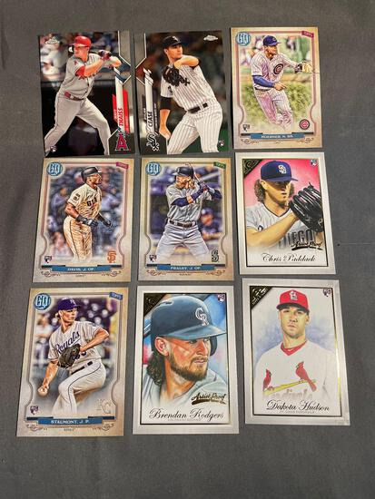 9 Card Lot of BASEBALL ROOKIE CARDS - Mostly Newer Sets - STARS & FUTURE STARS!!