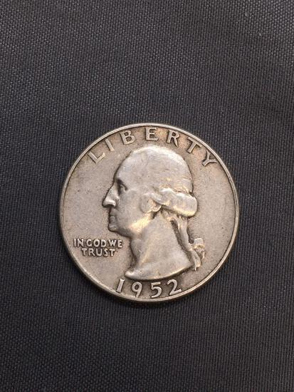 1952-S United States Washington Silver Quarter -90% Silver Coin from Estate