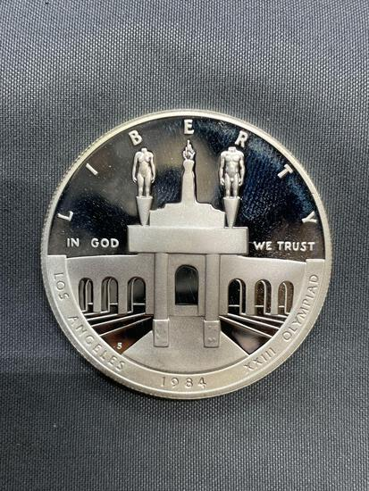 1984 United States LOS ANGELES XIII OLYMPIAD PROOF Silver Dollar - 90% Silver Coin from Estate