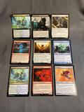 9 Card Lot of Magic the Gathering GOLD SYMBOL Rares and Foil Trading Cards from Binder Collection