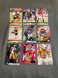 9 Card Lot of FOOTBALL ROOKIE CARDS - Mostly Newer Sets - STARS & FUTURE STARS!!