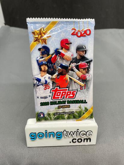 Factory Sealed 2020 TOPPS HOLIDAY Baseball 10 Card Pack
