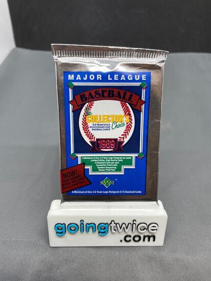 Factory Sealed 1989 Upper Deck High Number Baseball 15 Card Foil Pack - Griffey Rookie?