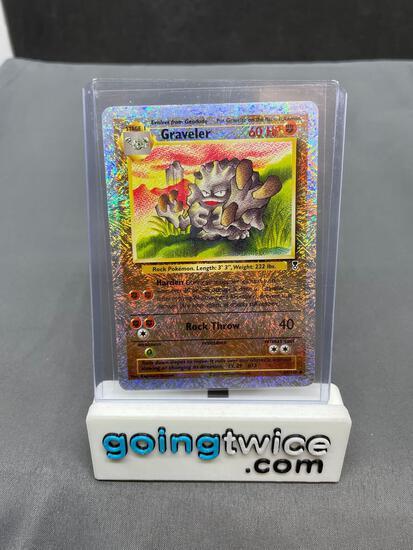 2002 Pokemon Legendary Collection #44 GRAVELER Reverse Holofoil Trading Card