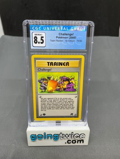 CGC Graded 2000 Pokemon Team Rocket 1st Edition #74 CHALLENGE Trading Card - NM-MT+ 8.5