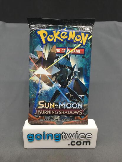 Factory Sealed Pokemon Sun & Moon BURNING SHADOWS 10 Card Booster Pack