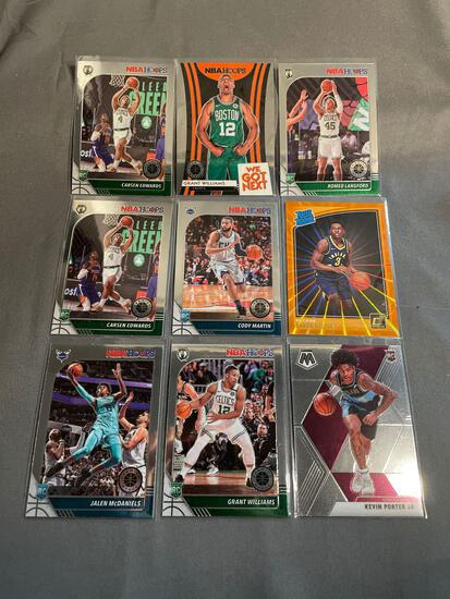 9 Card Lot of BASKETBALL ROOKIE Sports Cards from Mostly Newer Sets - Future Stars and More!
