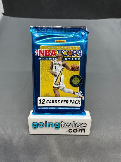 Factory Sealed 2019-20 NBA Hoops PREMIUM STOCK 12 Card Pack - Zion Rookie?