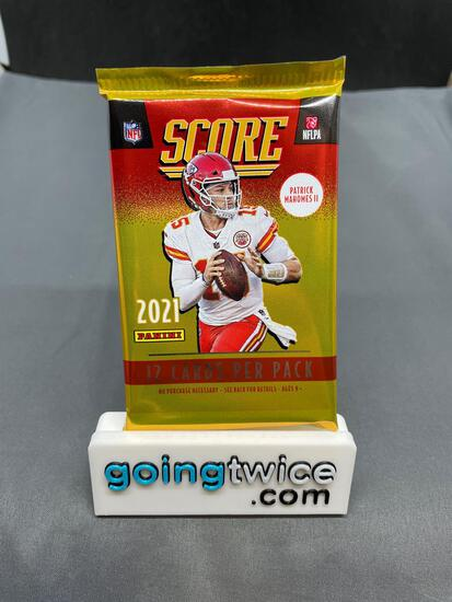 Factory Sealed 2021 SCORE Football 12 Card Pack