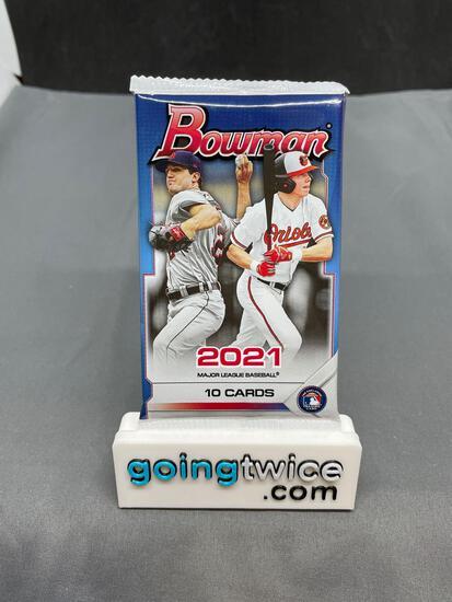 Factory Sealed 2021 BOWMAN Baseball 10 Card Pack