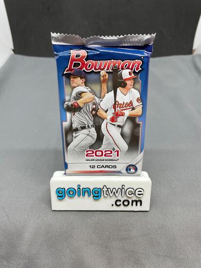 Factory Sealed 2021 BOWMAN Baseball 12 Card Pack