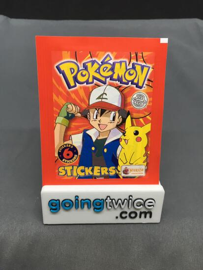 1999 Factory Sealed Pokemon TOPPS 6 Count VINTAGE Sticker Booster Pack - RARE!