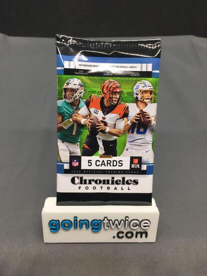 Factory Sealed 2020 CHRONICLES Football 5 Card Pack - Justin Herbert BLACK PRIZM Rookie?