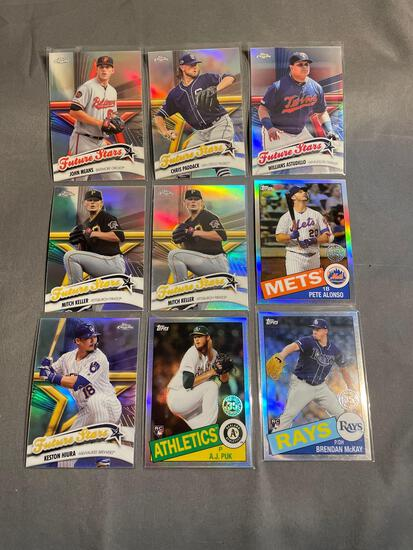 9 Card Lot of PRIZMS and REFRACTORS with Rookies & Stars from Epic Collection