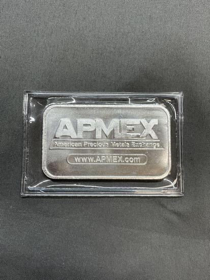 1 Troy Ounce .999 Fine Silver APMEX Silver Bullion Bar