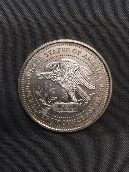 1/2 Troy Ounce .999 Fine Silver NW Territorial Mint Silver Bullion Round Coin