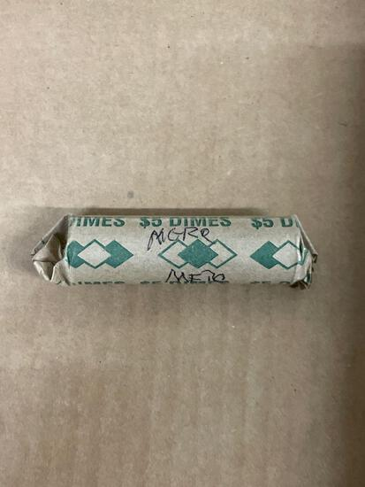 Unsearched Roll of Mercury Silver Dimes - 90% Silver - From Estate