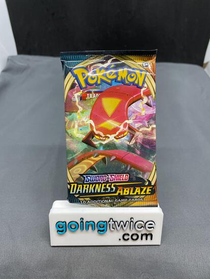 Factory Sealed Pokemon DARKNESS ABLAZE 10 Card Booster Pack - CHARIZARD VMAX?