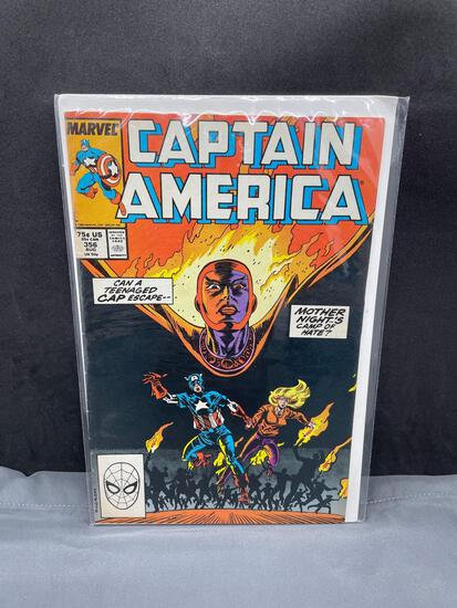 Vintage Marvel Comics CAPTAIN AMERICA #356 Copper Age Comic Book from Estate Collection