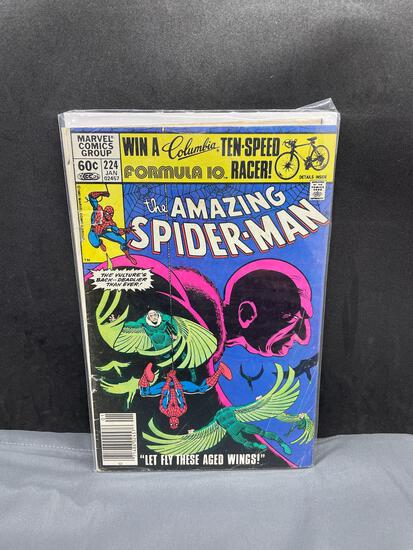 Vintage Marvel Comics THE AMAZING SPIDER-MAN #224 Bronze Age Comic Book from Estate Collection
