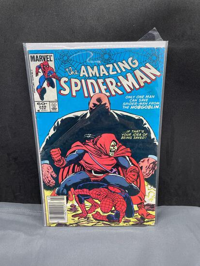 Vintage Marvel Comics THE AMAZING SPIDER-MAN #249 Bronze Age Comic Book from Estate Collection