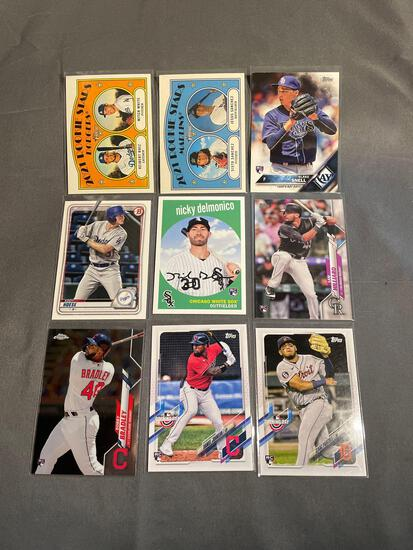 9 Card Lot of BASEBALL ROOKIE Cards - Mostly Modern Sets - Hot!